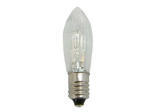 LED Topkerze, geriffelt, klar